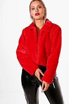 Plus Taylor Faux Fur Coat
