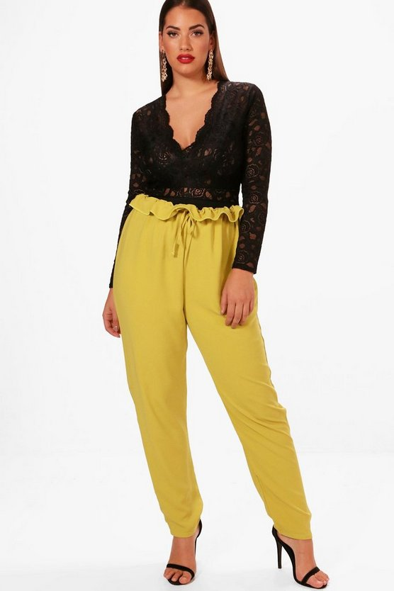 Plus Annie Paperbag Waist Trouser