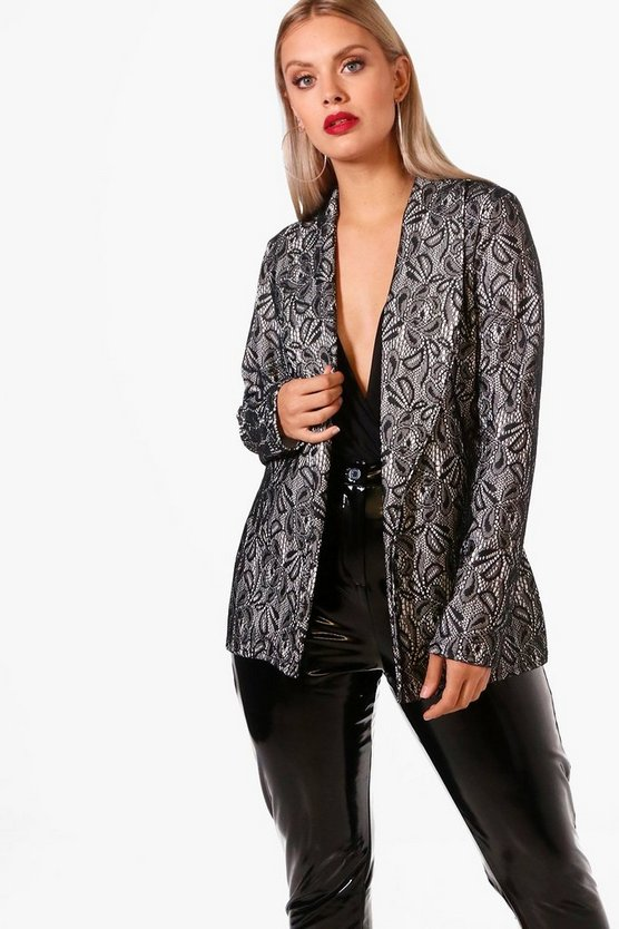 Plus Shelly Lace Blazer