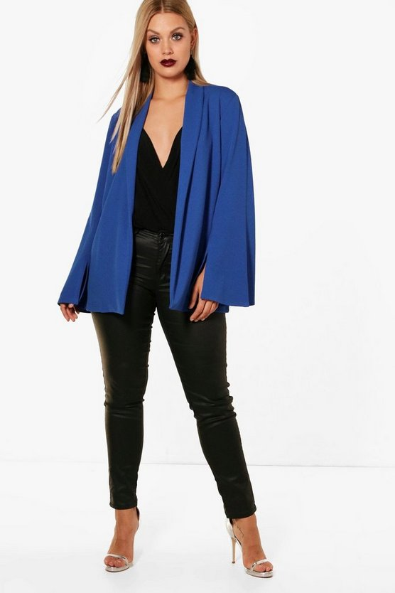 Plus Leah Tailored Wide Sleeve Blazer