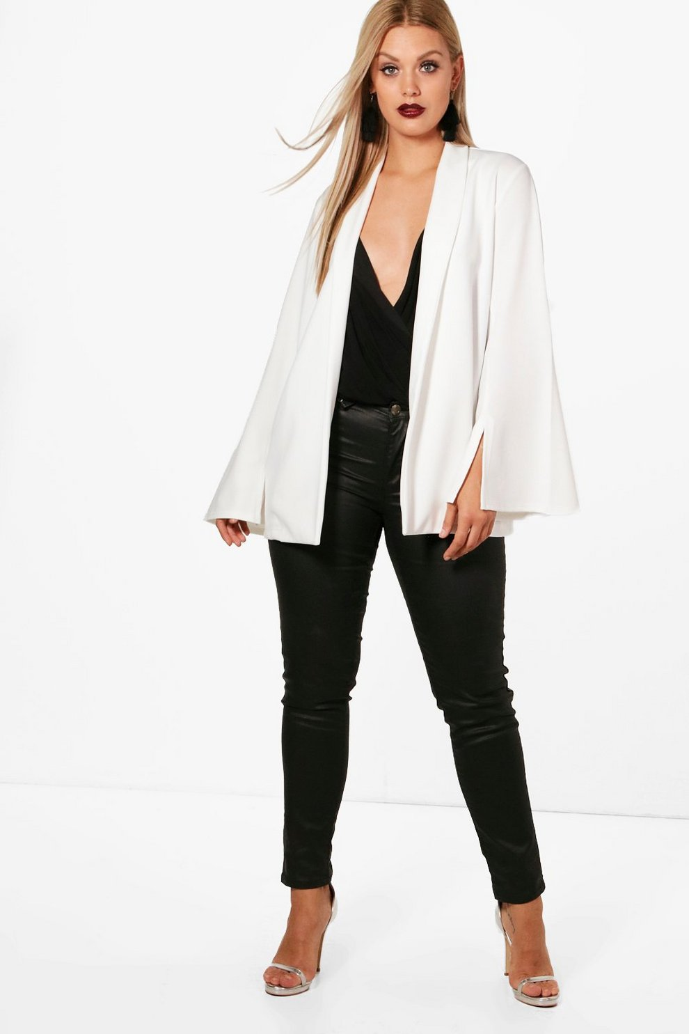 Boohoo Plus Tailored Wide Sleeve Blazer Free Shipping Get Authentic Extremely Sale Online Clearance Amazing Price Nicekicks Cheap Online Discount Shop For 9vhOrE6