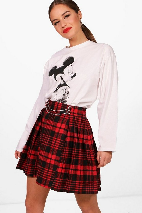 Petite Sarah Micky Sketch Long Sleeve Top