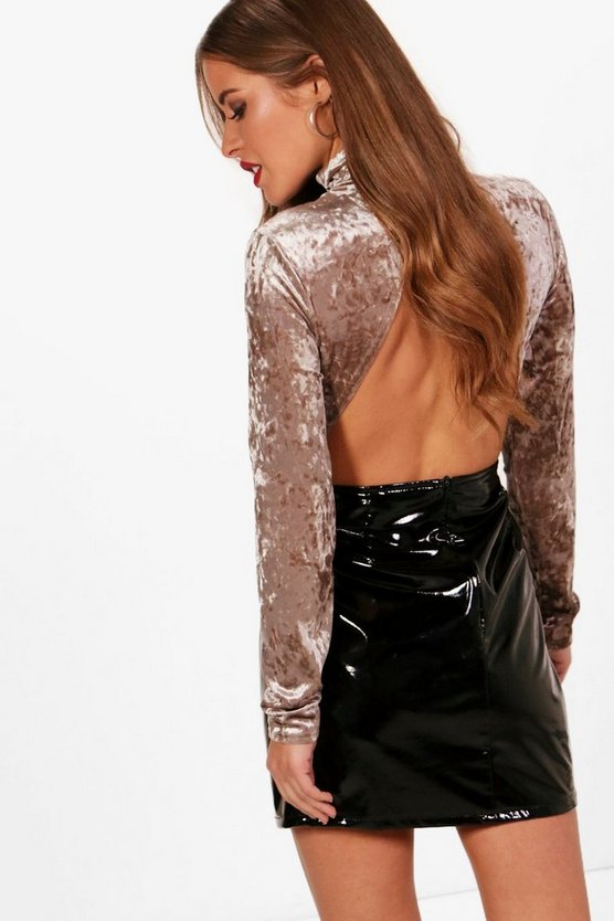 Petite Rosie Velvet Open Back Body