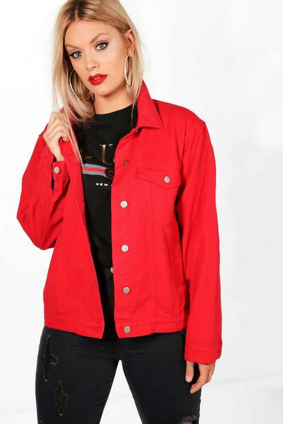 Plus Josie Denim Oversized Jacket