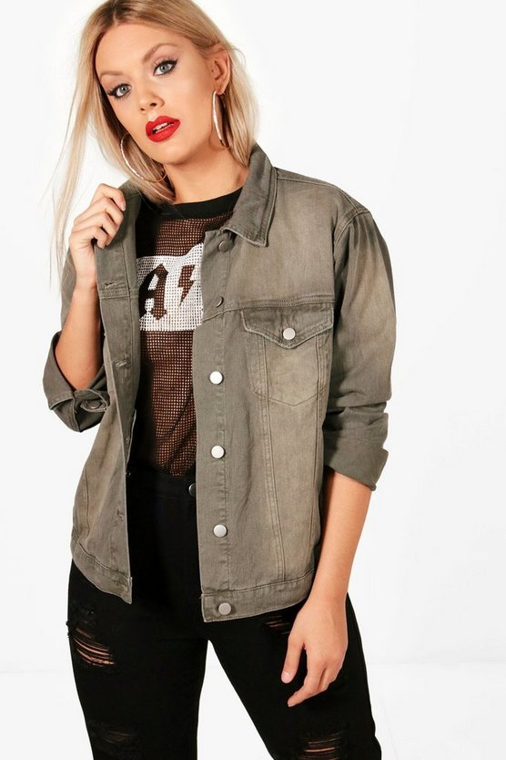 Plus Jess Oversized Denim Jacket
