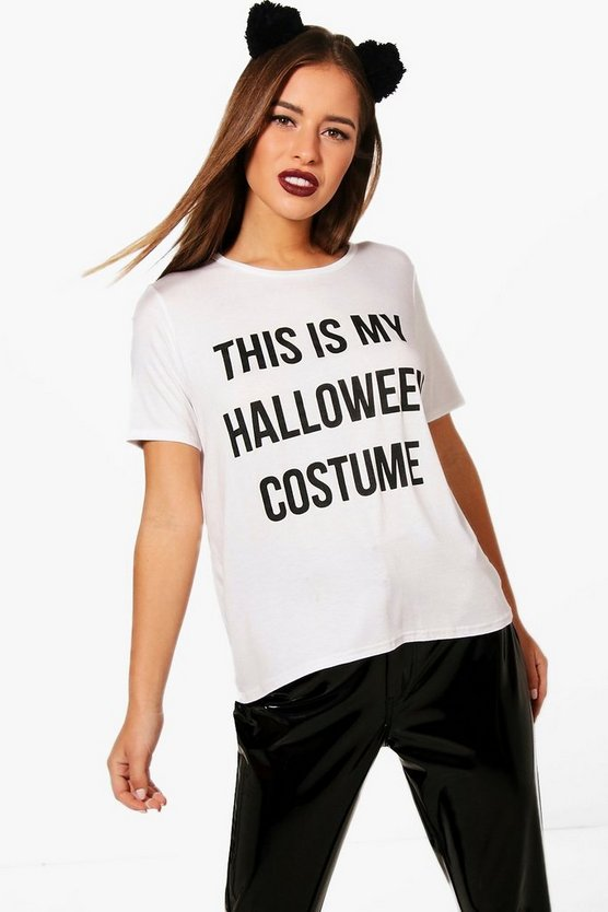 Petite Georgia Halloween Costume Slogan Tee