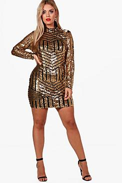 Plus Rosie All Over Sequin Bodycon Dress