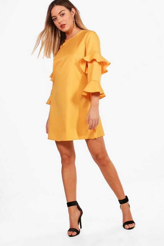 Petite Jenny Frill Sleeve Shift Dress
