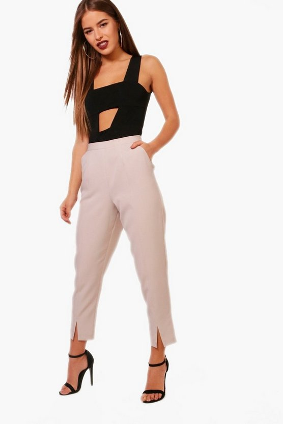 Petite Kate Split Front Woven Cigarette Trouser