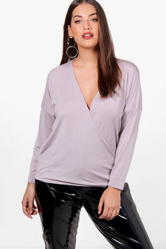 Plus Georgia Slinky Wrap Top