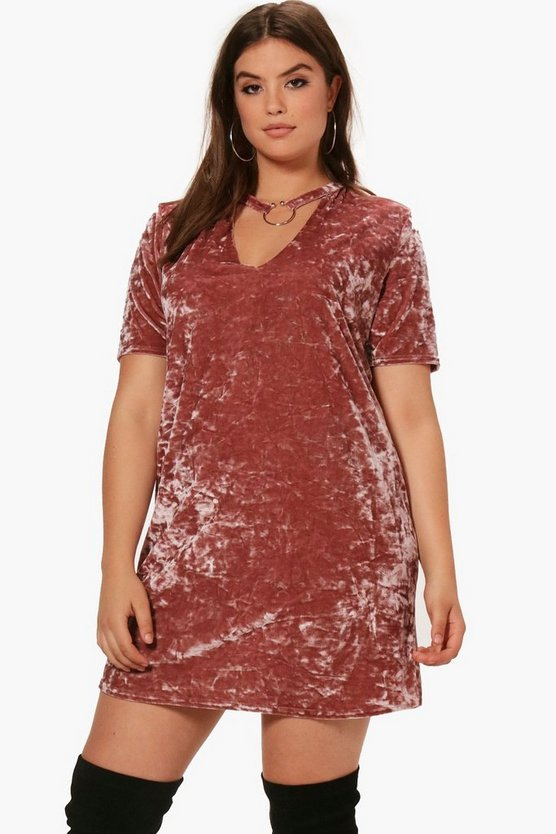 Plus Beth Velvet Shift Dress