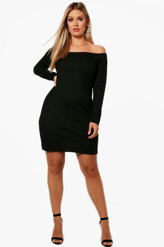 Plus Lianne Off The Shoulder Bodycon Dress