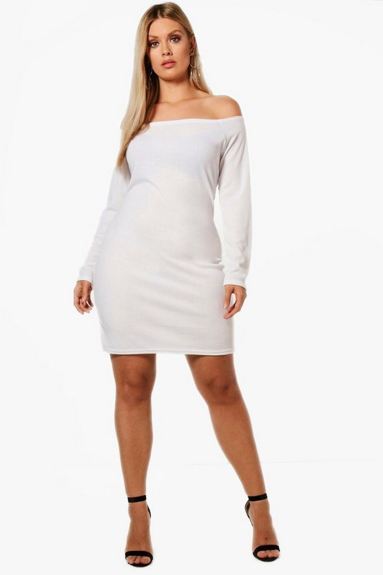 Plus Off The Shoulder Bodycon Dress