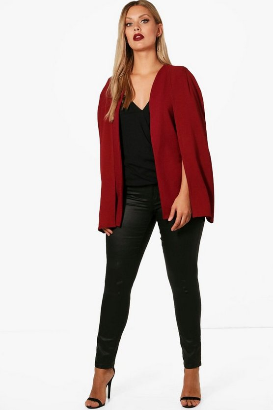 Plus Georgia Woven Cape Blazer