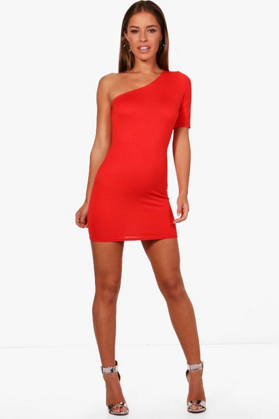 Petite Frankie Asymmetric Basic Bodycon Dress