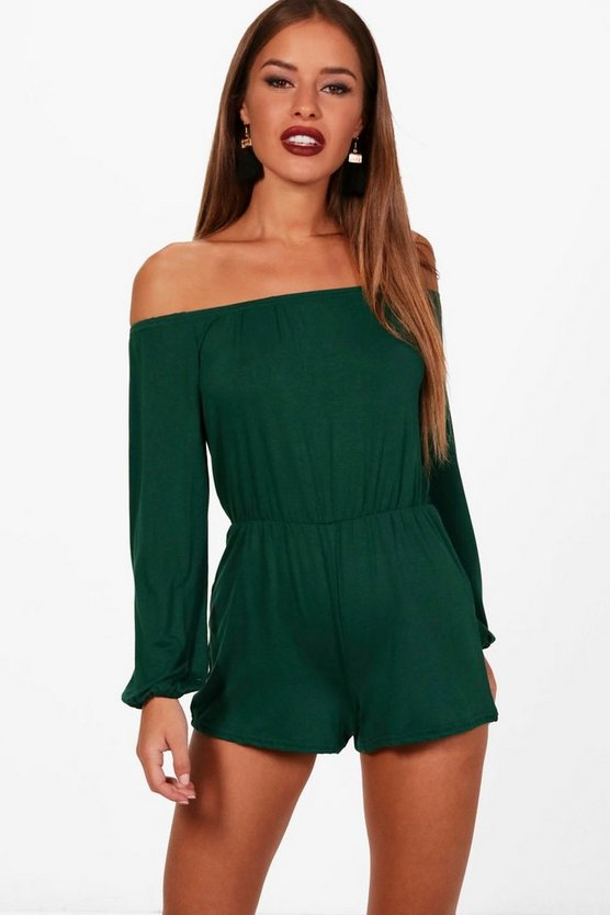 Petite Martha Off The Shoulder Playsuit