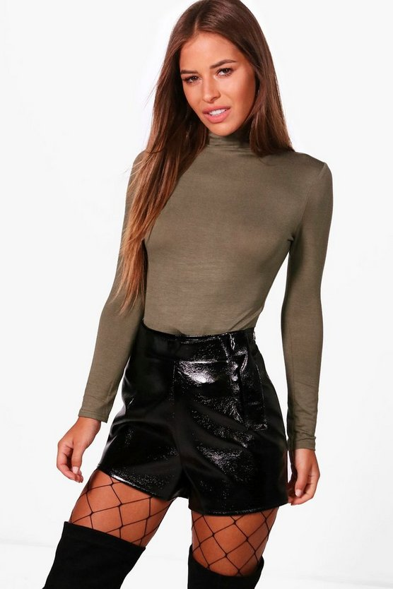 Petite Hollie Turtle Neck Long Sleeve Bodysuit