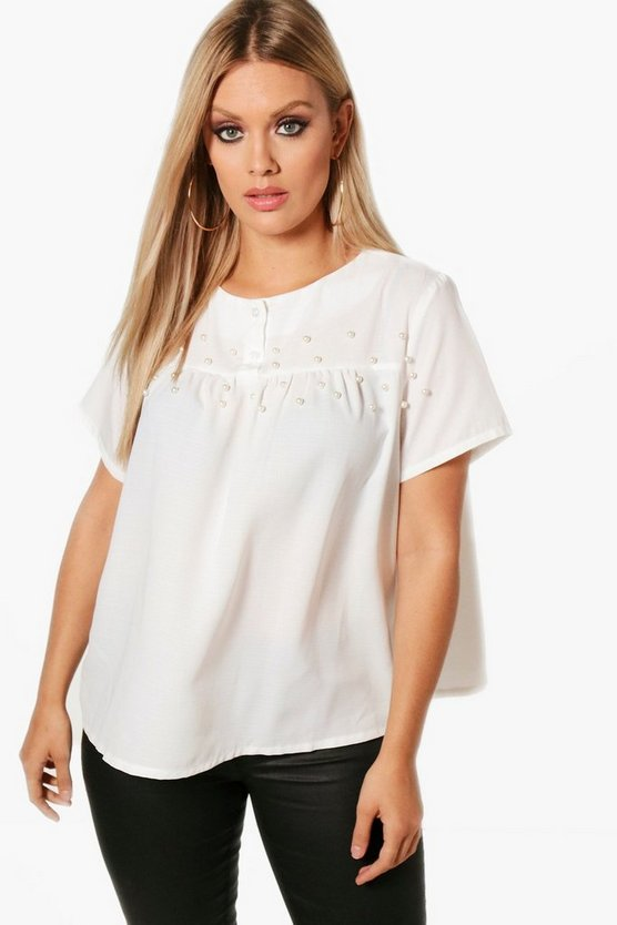 Plus Vicky Pleat Detail Smock Top