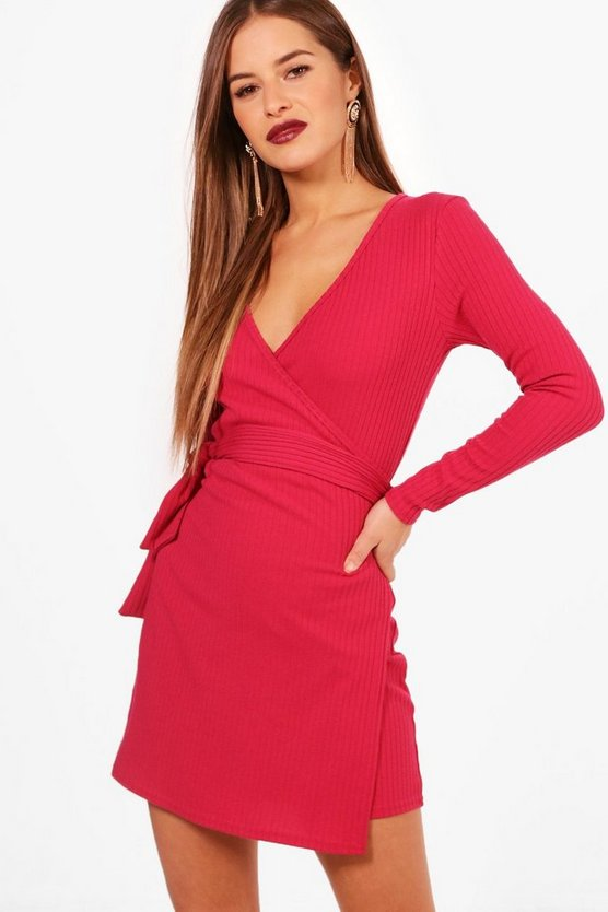 Petite Kelly Knitted Wrap Dress
