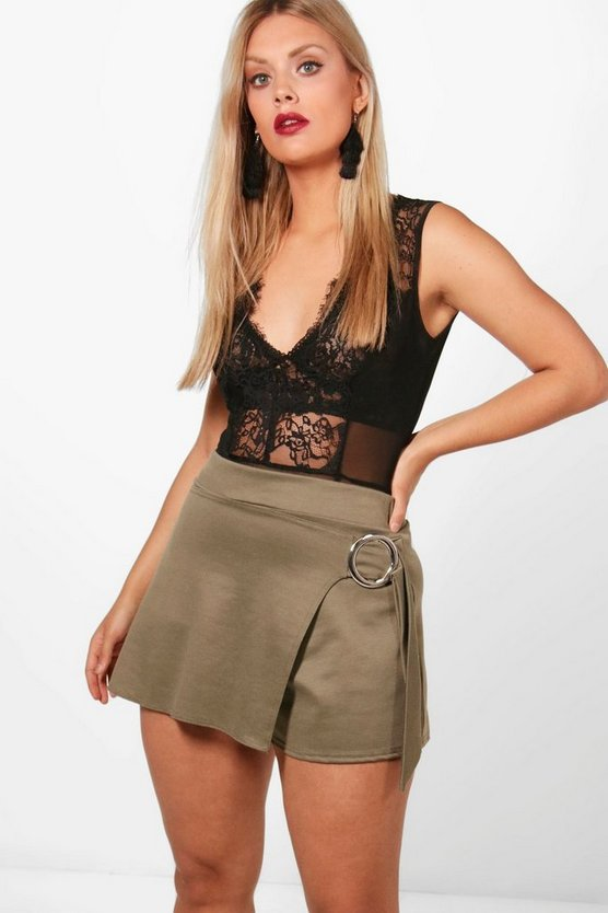Plus Lilly Ponte Tie Front Skort