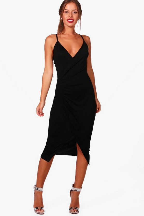 Petite Wrap Midi Dress