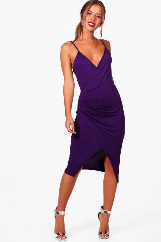 Petite Lana Wrap Midi Dress