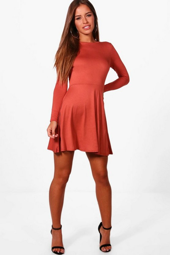 Petite Alice Harriet Basic Long Sleeve Dress