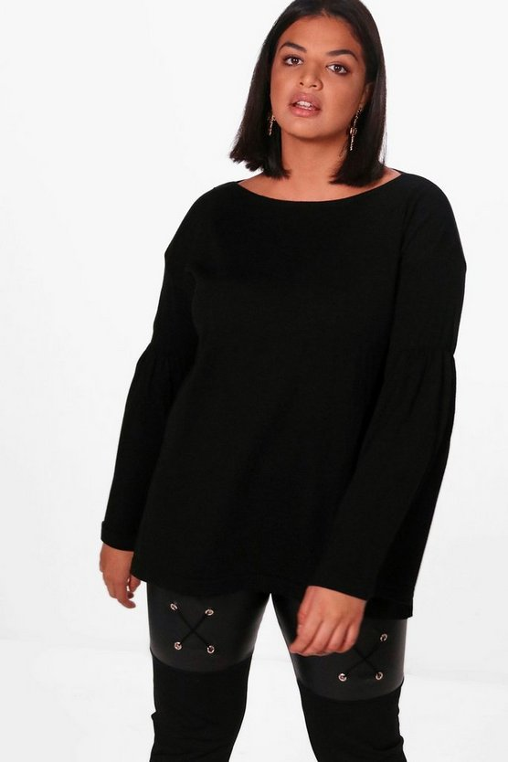 Plus Frankie Flare Sleeve Jumper