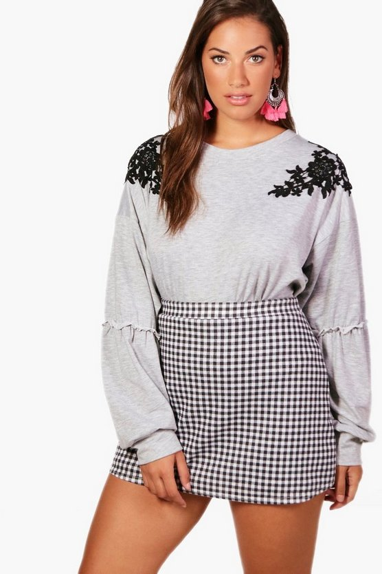 Plus Millie Embroidered Sweat Top