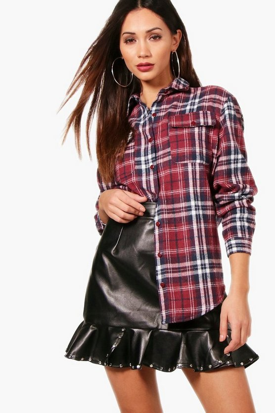 Petite Charlotte Check Shirt Oversized