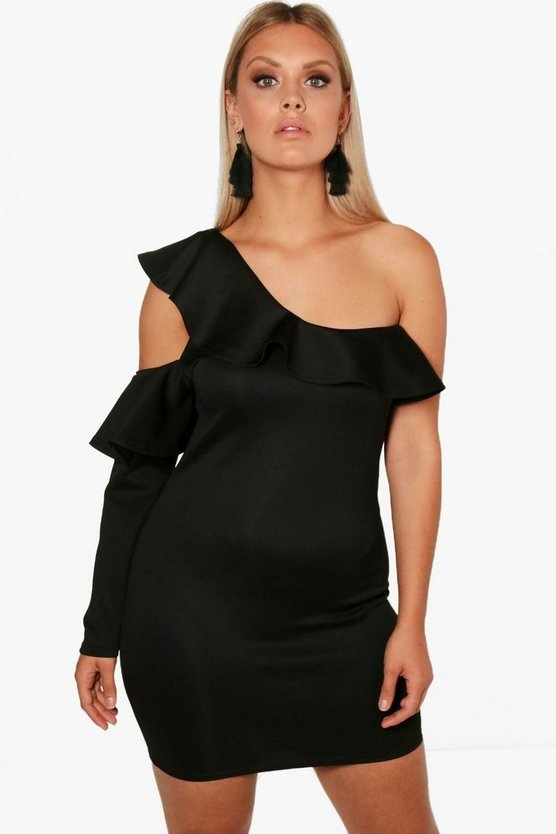 Plus Melissa Ruffle Shoulder Dress
