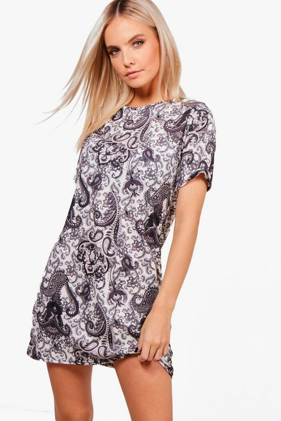 Petite Tyler Paisley Print Shift Dress