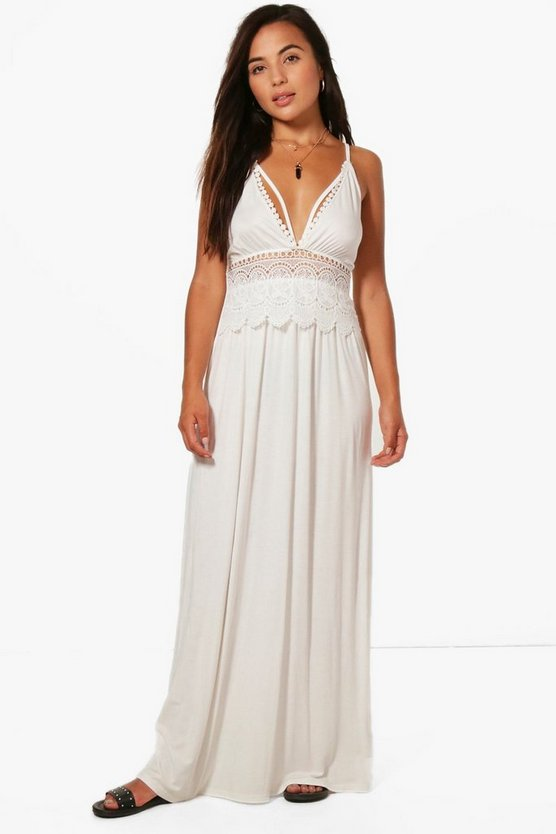 Petite Kirsten Trim Detail Maxi Dress