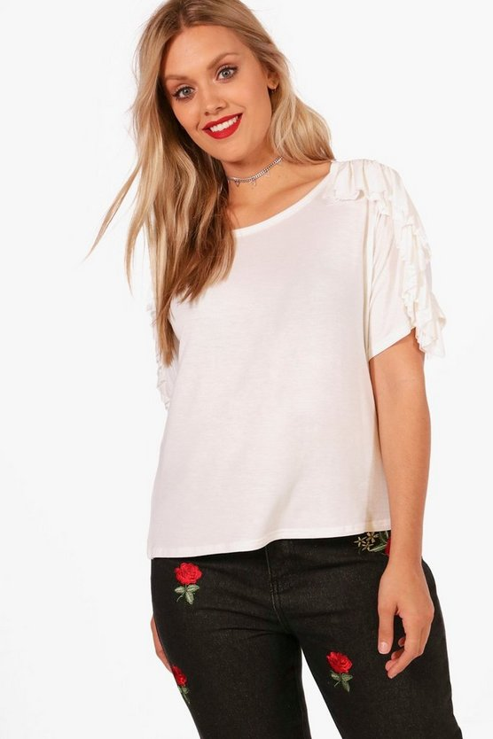Plus Georgina Frill Detail T Shirt