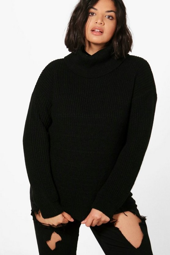 Plus Penny Roll Neck Knitted Jumper