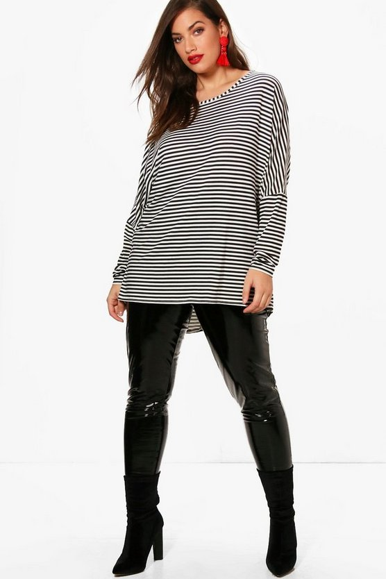 Plus Wendy Stripe Long Sleeve Top