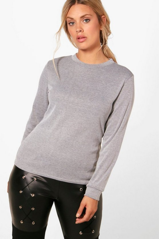 Plus Macy Ribbed Jumper