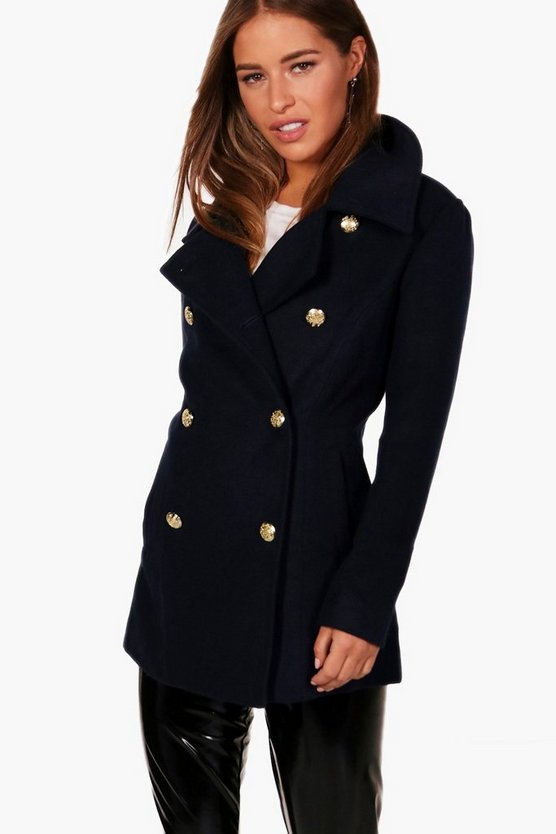 Petite Tina Military Duster Coat