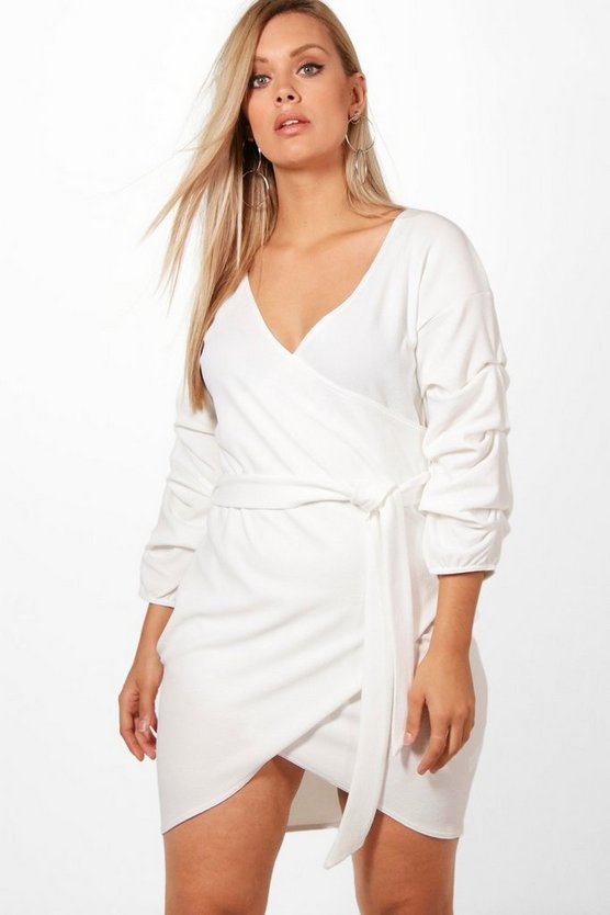 Plus Rosie Tie Detail Wrap Dress