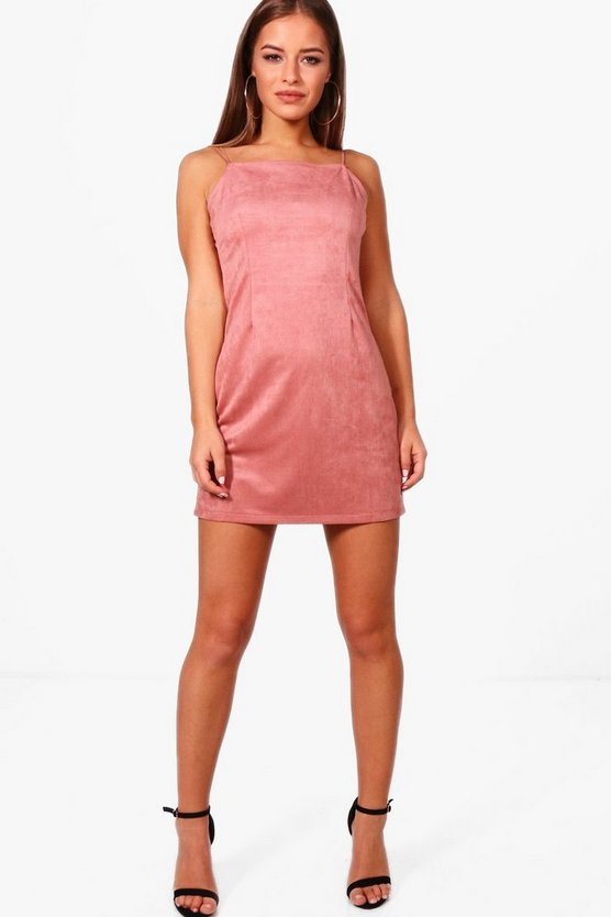 Petite Rita Suedette Mini Dress