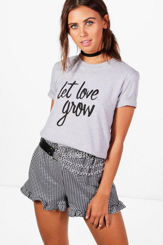 Charity Petite 'Let Love Grow' T Shirt