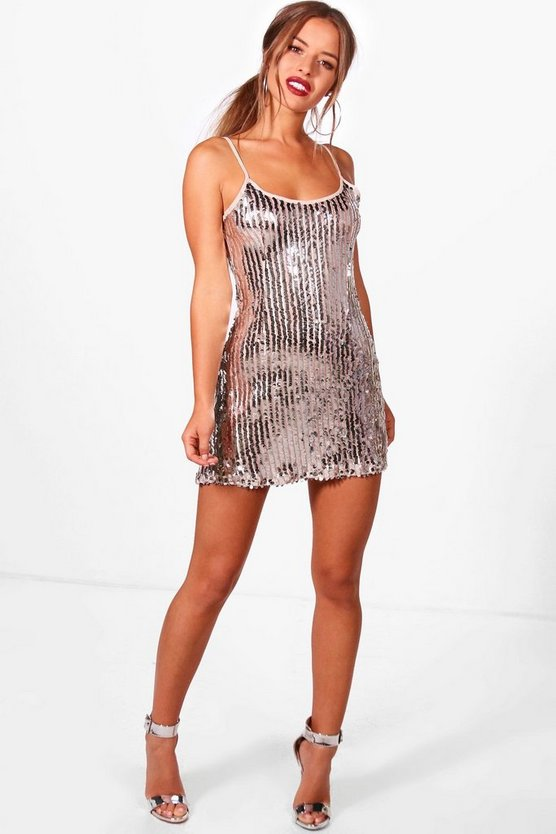 Petite Jenna Disco Sequin Slip Dress