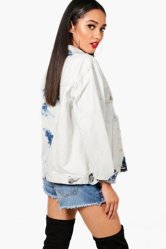 Petite Ellie Extreme Bleach Denim Jacket