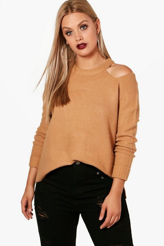Plus Cold Shoulder Jumper