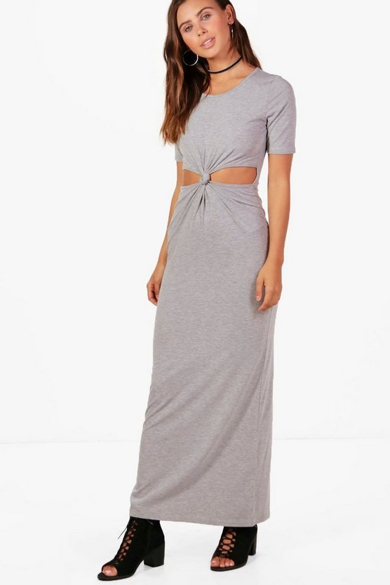 Petite Cara Twist Front Cut Out Maxi Dress