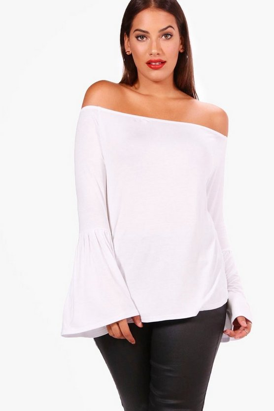 Plus Kirsten Off The Shoulder Tunic Top