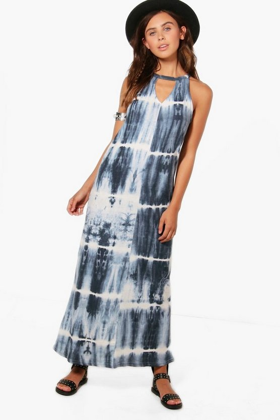 Petite Kacy High Neck Cut Out Maxi Dress