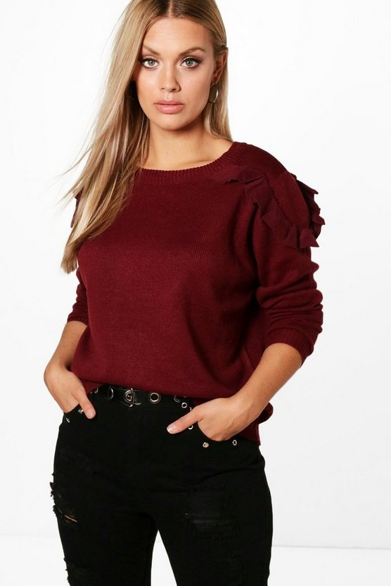 Plus Charly Ruffle Detail Jumper