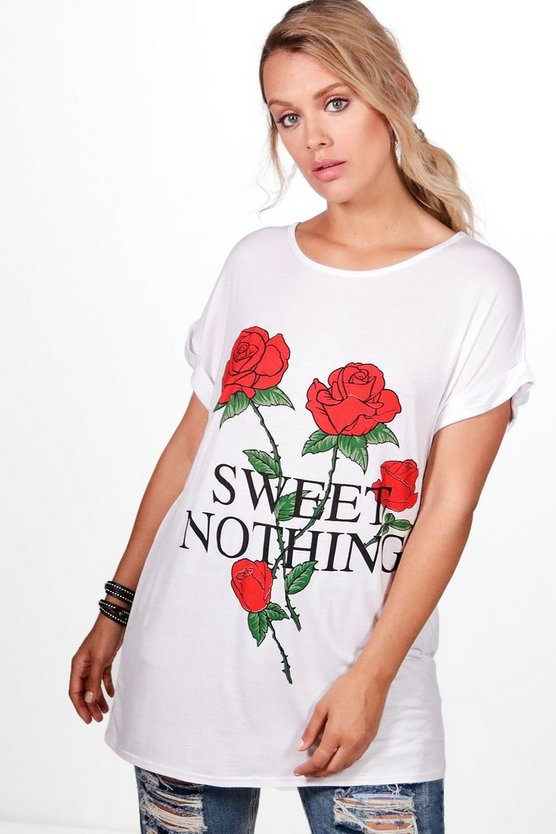 Plus Audrey Sweet Nothing Printed Tee
