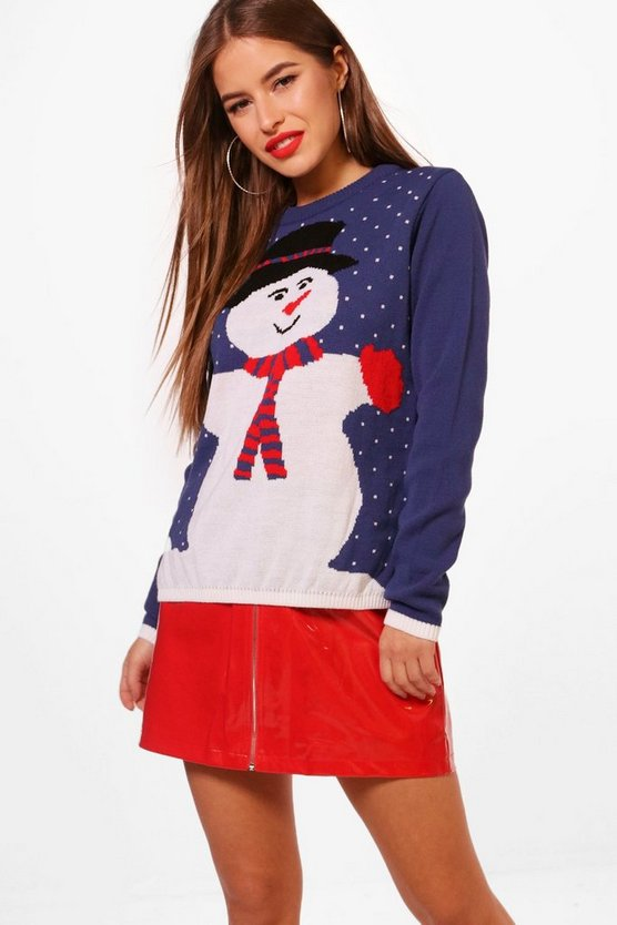 Petite Sally Snowman Christmas Jumper